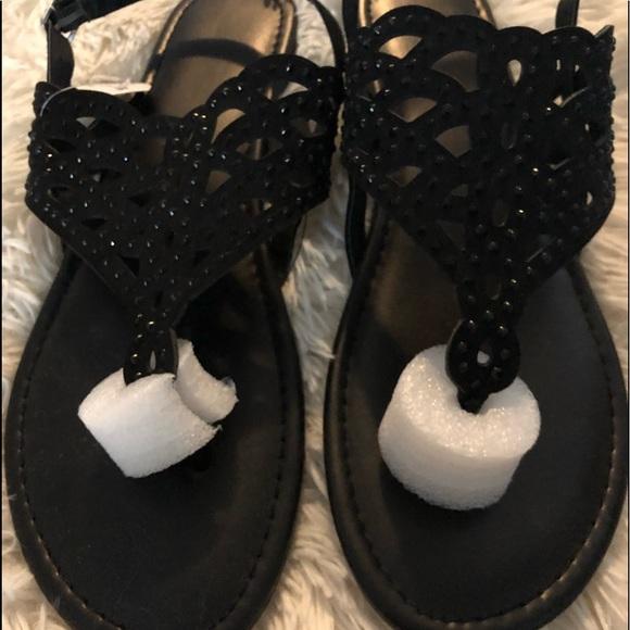 06e44ee32687 💜Women s sz 11 NWT Black Sparkly Sandals 💜